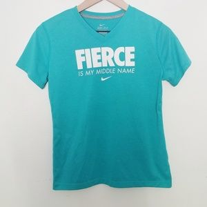 Nike Dri Fit Teal Graphic Tee Size XL